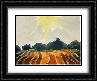 Morning Sun 24x20 Black or Gold Ornate Framed and Double Matted Art Print by Arthur Dove