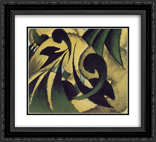 Nature Symbolized 22x20 Black or Gold Ornate Framed and Double Matted Art Print by Arthur Dove