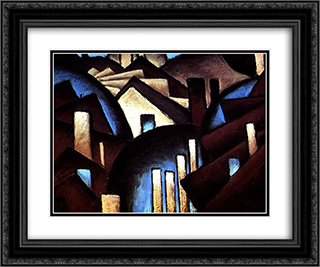 Nature Symbolized (or Reefs) 24x20 Black or Gold Ornate Framed and Double Matted Art Print by Arthur Dove