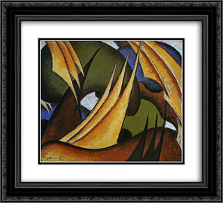 Sails 22x20 Black or Gold Ornate Framed and Double Matted Art Print by Arthur Dove