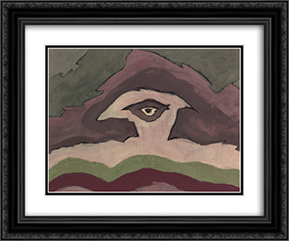 Storm Clouds 24x20 Black or Gold Ornate Framed and Double Matted Art Print by Arthur Dove