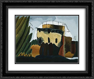 Tanks 24x20 Black or Gold Ornate Framed and Double Matted Art Print by Arthur Dove