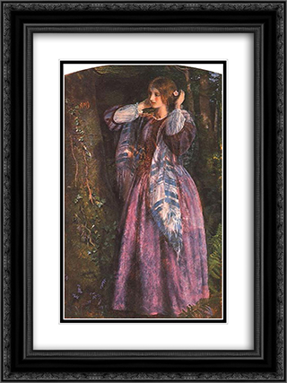 Amy (study) 18x24 Black or Gold Ornate Framed and Double Matted Art Print by Arthur Hughes