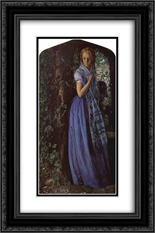 April Love 16x24 Black or Gold Ornate Framed and Double Matted Art Print by Arthur Hughes