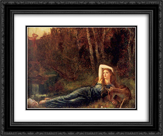 Endymion 24x20 Black or Gold Ornate Framed and Double Matted Art Print by Arthur Hughes
