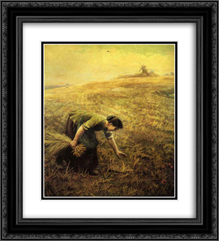 Gleaning 20x22 Black or Gold Ornate Framed and Double Matted Art Print by Arthur Hughes