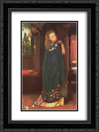 Good Night 18x24 Black or Gold Ornate Framed and Double Matted Art Print by Arthur Hughes
