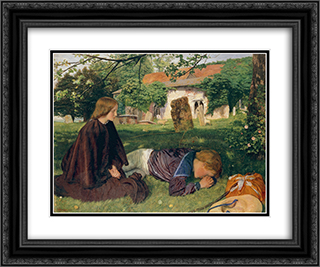 Home from the Sea 24x20 Black or Gold Ornate Framed and Double Matted Art Print by Arthur Hughes