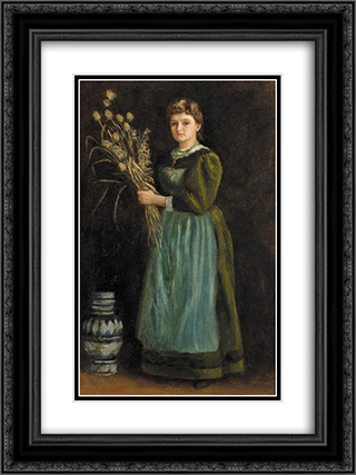 Lucy Hill 18x24 Black or Gold Ornate Framed and Double Matted Art Print by Arthur Hughes