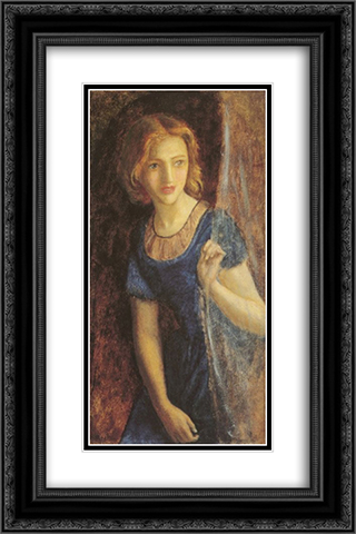 Mariana at the window 16x24 Black or Gold Ornate Framed and Double Matted Art Print by Arthur Hughes