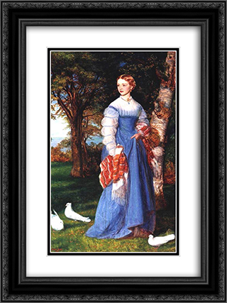 Portrait of Mrs. Louisa Jenner 18x24 Black or Gold Ornate Framed and Double Matted Art Print by Arthur Hughes