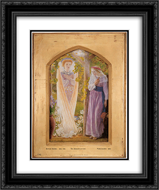 The Annunciation 20x24 Black or Gold Ornate Framed and Double Matted Art Print by Arthur Hughes