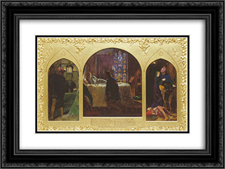 The Eve of St. Agnes 24x18 Black or Gold Ornate Framed and Double Matted Art Print by Arthur Hughes