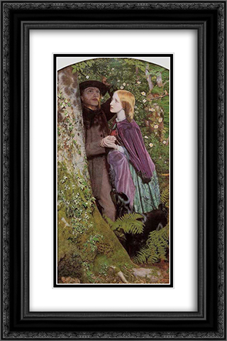 The Long Engagement 16x24 Black or Gold Ornate Framed and Double Matted Art Print by Arthur Hughes