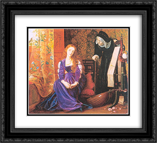 The Pained Heart', or 'Sigh No More, Ladies' 22x20 Black or Gold Ornate Framed and Double Matted Art Print by Arthur Hughes