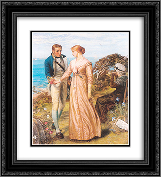 The Sailing Signal Gun 20x22 Black or Gold Ornate Framed and Double Matted Art Print by Arthur Hughes