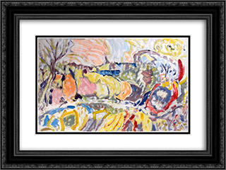 Untitled Landscape, Bellport (No.0001) 24x18 Black or Gold Ornate Framed and Double Matted Art Print by Arthur Pinajian