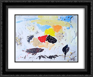 Untitled Landscape, Bellport (No.1042) 24x20 Black or Gold Ornate Framed and Double Matted Art Print by Arthur Pinajian