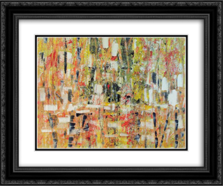 Untitled Landscape, Bellport (No.243) 24x20 Black or Gold Ornate Framed and Double Matted Art Print by Arthur Pinajian