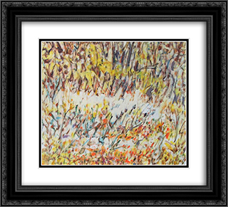 Untitled Landscape, Bellport (No.257) 22x20 Black or Gold Ornate Framed and Double Matted Art Print by Arthur Pinajian