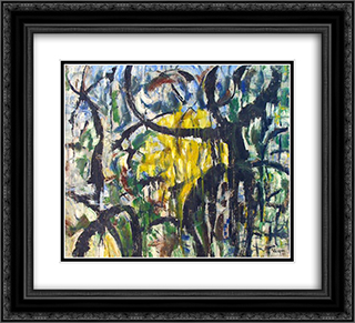 Untitled Landscape, Woodstock (No.414) 22x20 Black or Gold Ornate Framed and Double Matted Art Print by Arthur Pinajian