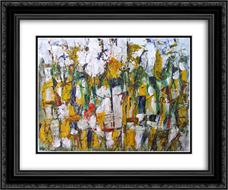 Untitled Landscape, Woodstock (No.42) 24x20 Black or Gold Ornate Framed and Double Matted Art Print by Arthur Pinajian