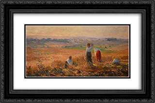 Harvest 24x16 Black or Gold Ornate Framed and Double Matted Art Print by Arthur Verona