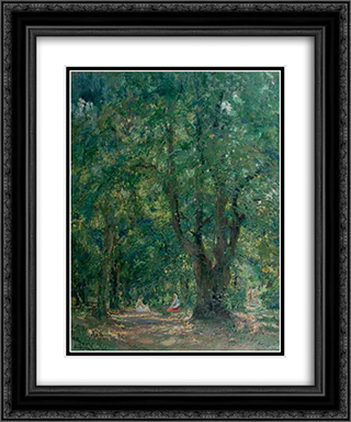 In the Hertza Forest 20x24 Black or Gold Ornate Framed and Double Matted Art Print by Arthur Verona