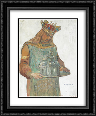 Neagoe Basarab (Study) 20x24 Black or Gold Ornate Framed and Double Matted Art Print by Arthur Verona