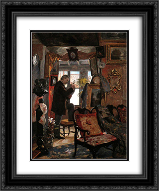 El desvan del anticuario 20x24 Black or Gold Ornate Framed and Double Matted Art Print by Arturo Michelena