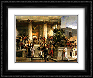 El panteon de los heroes 24x20 Black or Gold Ornate Framed and Double Matted Art Print by Arturo Michelena