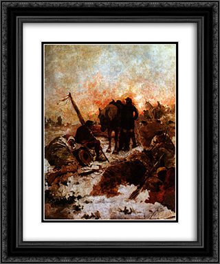 El paso de los Andes 20x24 Black or Gold Ornate Framed and Double Matted Art Print by Arturo Michelena