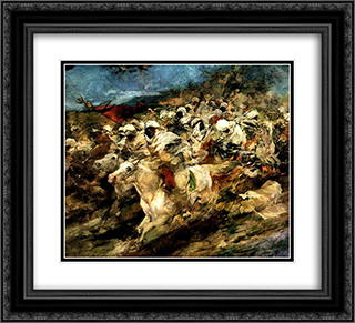 Fantasia arabe 22x20 Black or Gold Ornate Framed and Double Matted Art Print by Arturo Michelena