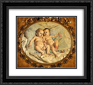 Los Morochos 22x20 Black or Gold Ornate Framed and Double Matted Art Print by Arturo Michelena