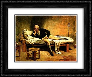 Miranda en La Carraca 24x20 Black or Gold Ornate Framed and Double Matted Art Print by Arturo Michelena