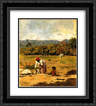 Paisaje de San Bernardino 20x22 Black or Gold Ornate Framed and Double Matted Art Print by Arturo Michelena