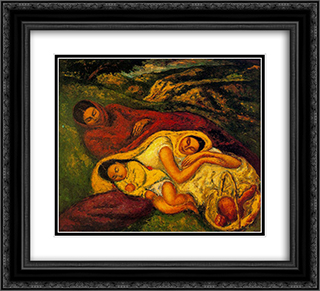 Relaxation 22x20 Black or Gold Ornate Framed and Double Matted Art Print by Arturo Souto