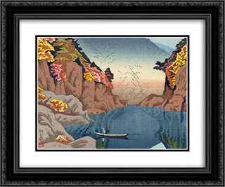 Dorokyo Gorge 24x20 Black or Gold Ornate Framed and Double Matted Art Print by Asano Takeji