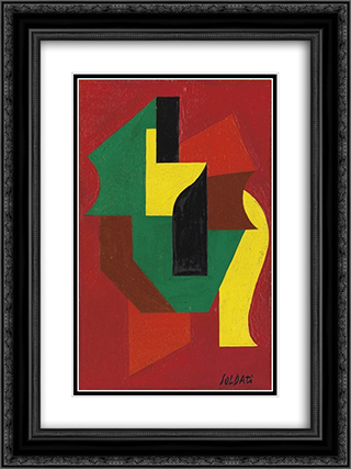 Composizione 18x24 Black or Gold Ornate Framed and Double Matted Art Print by Atanasio Soldati