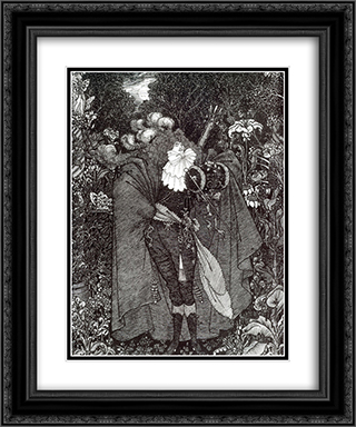 A Nightpiece 20x24 Black or Gold Ornate Framed and Double Matted Art Print by Aubrey Beardsley