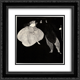 A Nocturne of Chopin 20x20 Black or Gold Ornate Framed and Double Matted Art Print by Aubrey Beardsley