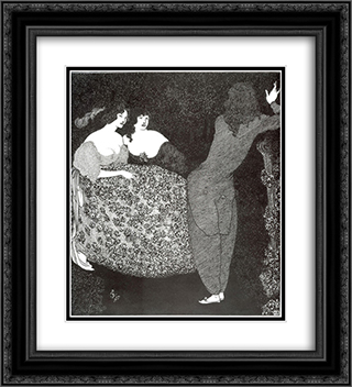 A Repetition of Tristan und Isolde 20x22 Black or Gold Ornate Framed and Double Matted Art Print by Aubrey Beardsley
