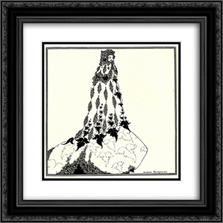 A Suggested Reform in Ballet Costume 20x20 Black or Gold Ornate Framed and Double Matted Art Print by Aubrey Beardsley