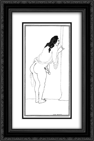 Adulterer 16x24 Black or Gold Ornate Framed and Double Matted Art Print by Aubrey Beardsley