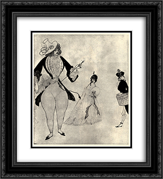 Albert in search of his ideals 20x22 Black or Gold Ornate Framed and Double Matted Art Print by Aubrey Beardsley