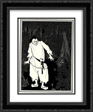 Ali Baba in the Woods 20x24 Black or Gold Ornate Framed and Double Matted Art Print by Aubrey Beardsley