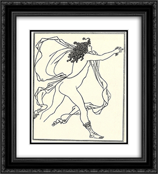 Apollo pursuing Daphne 20x22 Black or Gold Ornate Framed and Double Matted Art Print by Aubrey Beardsley