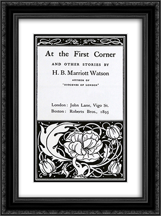 At the First Coner 18x24 Black or Gold Ornate Framed and Double Matted Art Print by Aubrey Beardsley