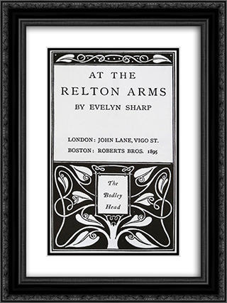 At The Relton Arms 18x24 Black or Gold Ornate Framed and Double Matted Art Print by Aubrey Beardsley