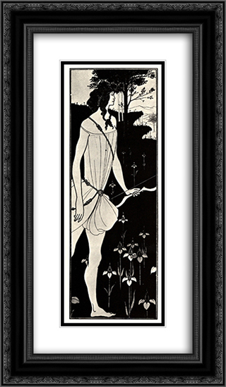 Atalanta in Calydon 14x24 Black or Gold Ornate Framed and Double Matted Art Print by Aubrey Beardsley